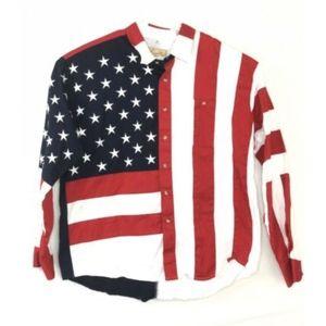 Scully Western Shirt American Flag Size XXL